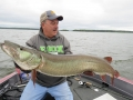 Steve caught this big musky on a prototype Mepps spinner.