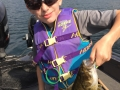 Steve's grandson Conner with a very nice smallmouth bass.