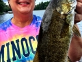 Connie Heiting smiles over her big smallie.