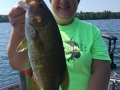 Another big smallmouth for Steve's wife, Connie.