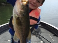 Steve's grandson Ethan caught and released this 18-inch largemouth bass.