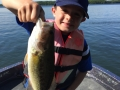 Steve's grandson Ethan caught and released this largemouth bass.