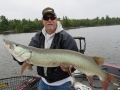 This fish has been caught and released before. Note the scarring on the lip of Kevin Schmidt's musky.
