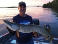 Big pike need love, too. Kevin Schmidt caught this one in a figure-8!