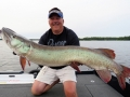 A Mepps H210 triggered this big musky for Steve.