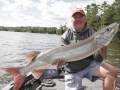 A tiny reef at the mouth of a small bay produced this musky for Steve.