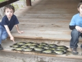 Grandsons Ethan and Conner with a haul of crappies.