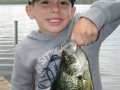 Grandson Conner is called the Crappie Kid for good reason.